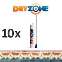 10 x Dryzone Injektionscreme, Horizontalsperre, Wandabdichtung, Kellerabdichtung