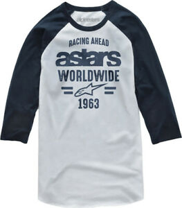 Alpinestars Men's Entice Tee T-Shirt (White/Navy) L
