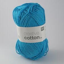 Rico Creative Cotton DK - 100% Cotton Knitting & Crochet Yarn - Sky Blue 14