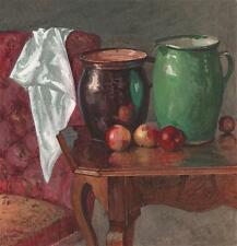 STILL LIFE MUNICH GERMANY Painting GEORGE CHARLES D'AGUILAR c1840 GRAND TOUR