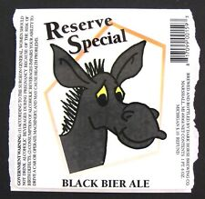 Dark Horse RESERVE SPECIAL - BLACK BIER ALE beer label MI 22oz -STICKER