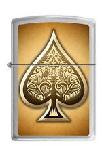 Zippo 0247 ace of spades brushed chrome RARE & DISCONTINUED Lighter
