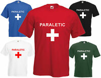 Paraletic Comedy T Shirt Paramedic Stag Hen Tee Funny Top Party Drunk Joke DJ