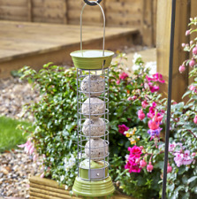 Chapelwood 30cm Suet Fat Ball Outdoor Garden Hanging Bird Feeder - Olive Green