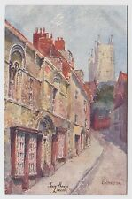 POSTCARD - artist signed G W Martyn, Jews' House, Lincoln, Lincolnshire