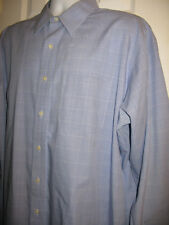 BROOKS BROTHERS 1818 Men's Blue Plaid Long Sleeve TRAD fit Non iron 171/2 - 4/5