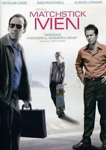 Like New DVD Matchstick Men 2009 Nicolas Cage  Sam Rockwell Robert Zemeckis