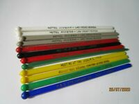 Vintage MCM Plastic Swizzle Sticks Las Vegas Hotel Bar Cocktail Stirrers 12