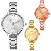 Dress Watch Women Stainless Steel Big Dial Analog Quartz Watches