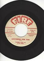 """TARHEEL SLIM AND LITTLE ANN- """"ANYTHING FOR YOU""""- FIRE 1021"""