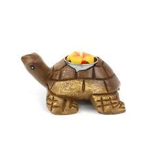 Fair Trade Acacia Hand Carved Tortoise Tea Light Holder Candle Thailand Gift