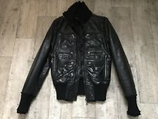 Dolce Gabbana Multizipp Lederjacke Leather Jacket 52 Top Schwarz