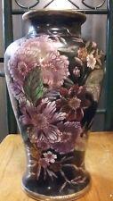 """CHINESE Porcelain DUAL MARK 12"""" Planter Vase - Brush Pot - URN - Famille NOIRE"""