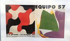 Plakat cartel Vintage Eqipo 57 Museo Nacional Centro Arte Reina Sofía, no frame