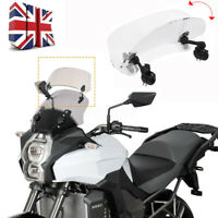 Universal Motorcycle Clip On Windshield Wind Screen Deflector Extension Spoiler
