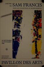 Affiche SAM FRANCIS 1986 Exposition Pavillon de Arts Paris
