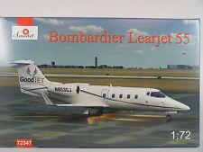 Learjet Bombardier 55 - Zivil Flugzeug - Amodel Bausatz 1:72 - 72347 #E