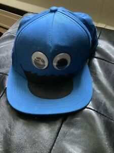 Vintage 2012 Sesame Street Cookie Monster Googly Eyes Nom Nom Nom Snapback Hat