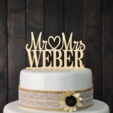Custom Wedding Cake Topper Mr & Mrs Personalized Cake Topper Unique Wedding Gift