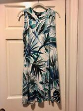 Beautiful Karen Kane Sleeveless Dress Blue Tropical Print Size L Worn Once
