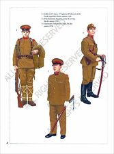 PLANCHE UNIFORMS PRINT WWII JAPAN ARMY ARMEE DU JAPON Imperial Guard Infantry