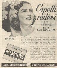 Y3006 Shampoo PALMOLIVE - Capelli radiosi... - Pubblicità del 1939 - Old advert