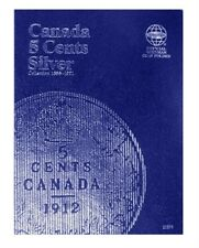 Canada 5 Cent, Silver 1858-1921, Whitman Coin Folder