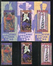 CROATIA 1995 FASHION/NECKTIE/CROATIAN SOLDIER/MILITARY/UNIFORM set+s/s MNH