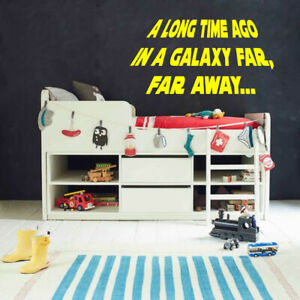 Star Wars inspired A long time ago Children's room wall art Sticker vinyl Decal