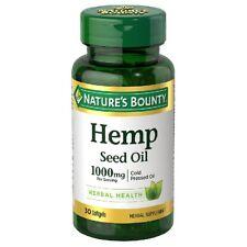 Nature's Bounty Hemp Seed Oil 1000mg 30 softgels EXP: 3/22