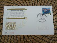 Australia 2004 fdc Athens Olympics L/E  Womens 4 x 100m Medly   Gold Medallist