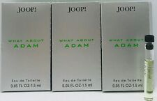 💝 JOOP! WHAT ABOUT ADAM Eau de Toilette pour Homme 3 x 1,5 ml Duftproben NEU
