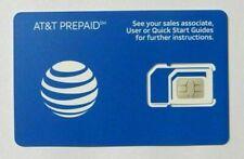 New At&T Prepaid & Postpaid 4G Lte Triple Sim Card 3 In 1 Att Micro Nano Lot