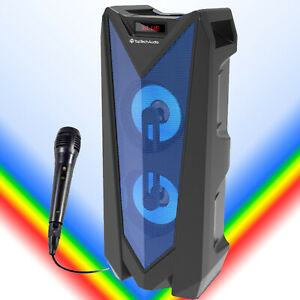 Fully Amplified 1000 Watts Bluetooth Wireless Multimedia Louder Speaker Blue