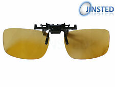 LARGE YELLOW FLIP FLIP-UP CLIP ON CLIP-ON FISHING SUNGLASSES AC004