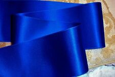 "4"" WIDE SWISS DOUBLE FACE SATIN RIBBON-  ROYAL BLUE"