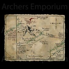 Thorin's Map Parchment Art Print Replica. Official, Hobbit, LotR, Smaug. Weta.