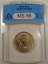 2007-D $1 JOHN ADAMS  ANACS MS 66