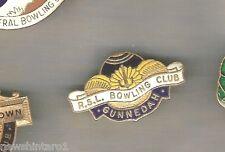 LAWN BOWLING CLUB BADGE - GUNNEDAH RSL