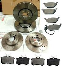 AUDI A3 1.6 8P 2006 DRILLED AND CURVED GROOVED BRAKE DISCS PADS FRONT REAR