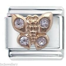 BUTTERFLY & CRYSTALS - Daisy CHARM Fits Nomination Classic Italian Charm