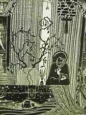 Don Blanding 1935 ASIAN SHOP Art Deco Illustration Print Matted