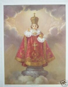 """Catholic Print Picture Large INFANT JESUS OF PRAGUE 13x17"""" from Italy"""