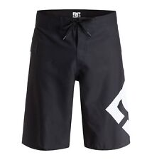 NWT DC SHOES Lanai 22 Boardshorts Mens 31 x 22 SWIM TRUNKS BLACK WHITE LONG $44