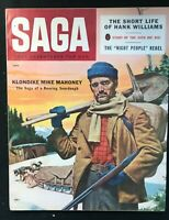 SAGA Magazine - Jan 1957 - Pulp / Men's Interest / Adventure / HANK WILLIAMS