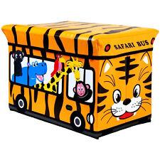 Giocattolo di stoccaggio Imbottito Kids Box sedile a panchina Animali Safari Bus per Bambini Play sul petto