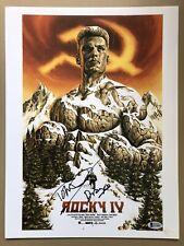 Dolph Lundgren Signed Rocky 4 12x16 Photo With Drago Inscription & Beckett Cert