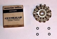 CENTRALAB PA-14 Miniature Ceramic Rotary Switch, 2 Pole 5 Position, Solid Silver