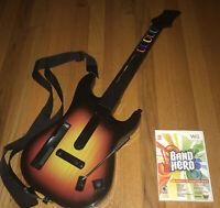 Nintendo Wii Red Octane Sunburst Guitar Hero Controller Strap W/ Game