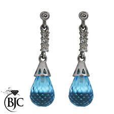 Diamond Drop/Dangle Not Enhanced Fine Gemstone Earrings